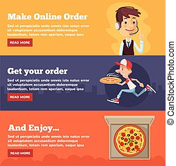 fast food, consegna pizza