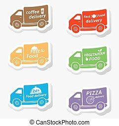Fast food delivery truck stickers