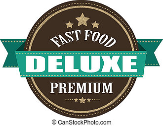fast food deluxe stamp