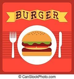 fast food design, vector illustration eps10 graphic