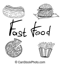 fast food diner sketch drawings. sketch doodle