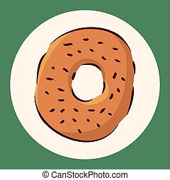 fast food donut flat icon elements,eps10
