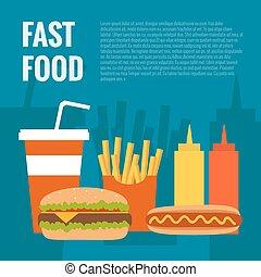 Fast food flat design