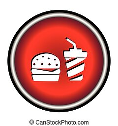 fast food flat icon