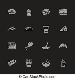 Fast Food - Flat Vector Icons