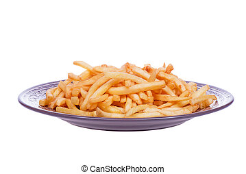 Fast food. French fries potatoes ready to be eaten