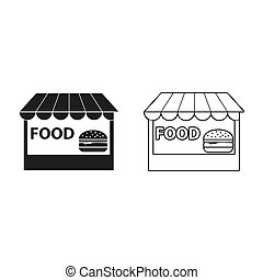 fast food - green vector icon