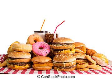 Fast food ,hamburger cheese