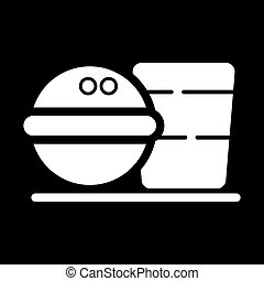Fast Food icon on the black background.