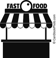Fast food icon. Simple illustration of fast food vector icon for web.