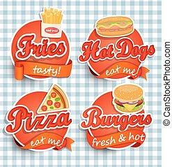 Fast food Label.
