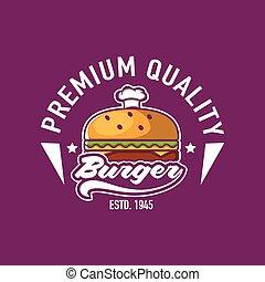 Fast Food Logo Stock
