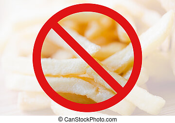 close up of french fries behind no symbol