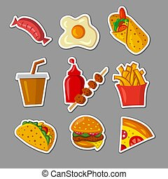 fast food meals stickers