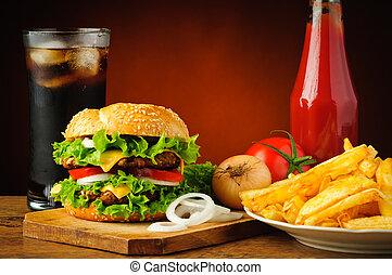 fast food, menu