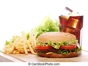 Fast food on the table - Delicious fast food on the table