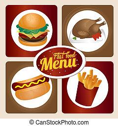 fast food over white background vector illustration