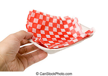 fast food paper tray