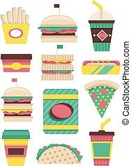 Fast Food Patterns Flat
