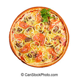 Fast food Pizza. Natural form foods.
