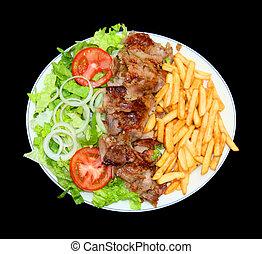 fast food - plat kebab