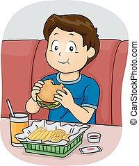 fast food, ragazzo