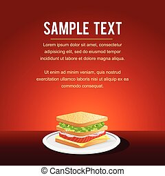 Fast Food Restaurant Menu Card Design