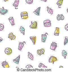 Fast food seamless pattern