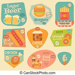 fast food stickers collection