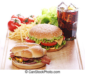 fast food, tavola