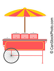Fast food trolley.