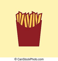 Fast food vector icon. French fries pictogram.