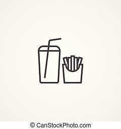fast food vector icon sign symbol