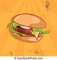 fast food vector illustration with burger