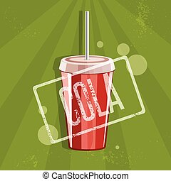 fast food vector illustration with cola