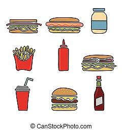 Fast food vector set