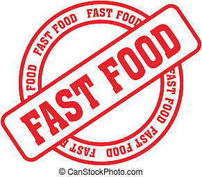 fast food word stamp8 - fast food in vector format