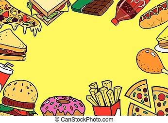 Fast Foods Doodle