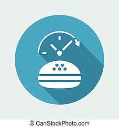 Fast-foood steady service - Vector flat icon
