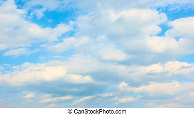 Fast heap clouds - timelapse - Blue sky with fast heap...
