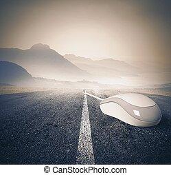 Fast internet concept - Concept of fast internet concept...