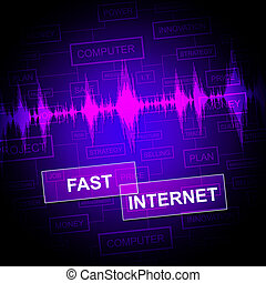 Fast Internet Shows Web Site And Accelerated
