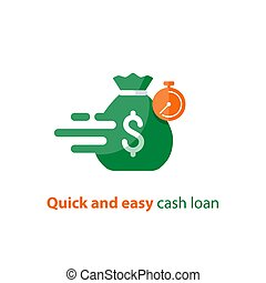 Fast loan, quick money, finance services, timely payment,...