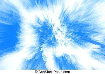 Fast motion blur effect abstract light blue background