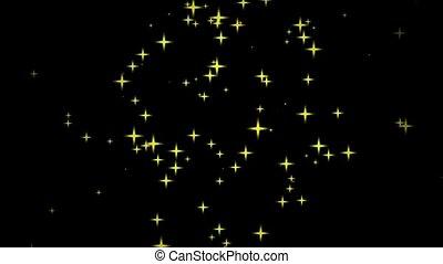 fast motion of stars on black backg