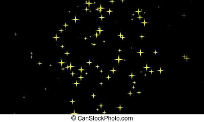 fast motion of stars on black backgrounds