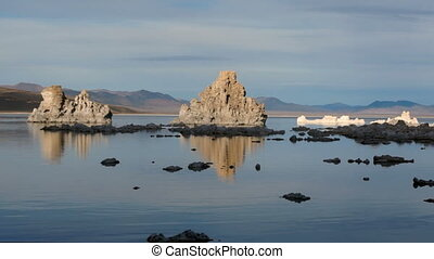 Fast Motion Rendering of Mono Lake California at Dusk - The...