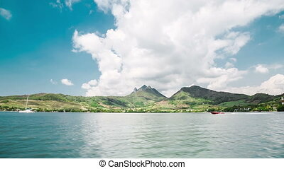 fast motor boat in mauritius - sailing fast with motor boat...