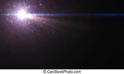 Fast movement of two bright stars on a black background HD 1920x1080