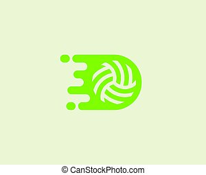 Fast moving ball logotype. Sport vector logo design.
